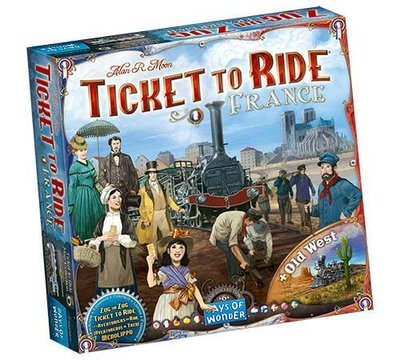 【德式桌遊】 Ticket to Ride: France and Old West  鐵道任務:法國和舊西部英文版