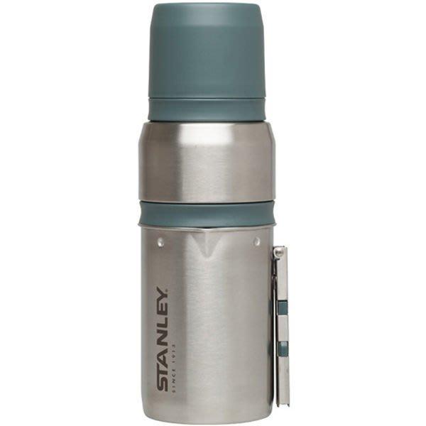 【【蘋果戶外】】STANLEY 10-01698 美國 美國 Stanley 真空保溫咖啡瓶組 0.5L 不鏽鋼原色