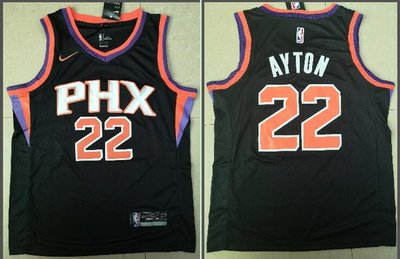 NBA鳳凰城太陽隊22#Deandre Ayton 安德烈-艾頓 電繡籃球服球衣運動背心 黑色