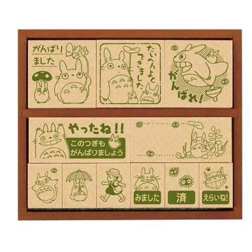 現貨不必等 日本製 宮崎駿 龍貓 TOTORO 木製 龍貓 印章組 4977524124313 C