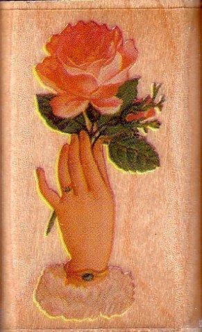 陽光一品DIY卡片印章專賣店~~RS木頭印章--花-愛的象徵~~## 647B ##~~美國製絕版品