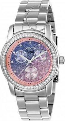 展示品 Invicta 23821 Angel Glam Quartz Multi Function Crystal Accented Women's