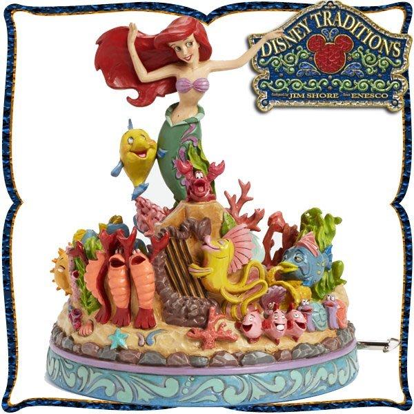 ♥心樂格格♥♫Disney Traditions  迪士尼 [小美人魚 愛麗兒 木雕風景品 模型 禮品]全新美版稀有品~