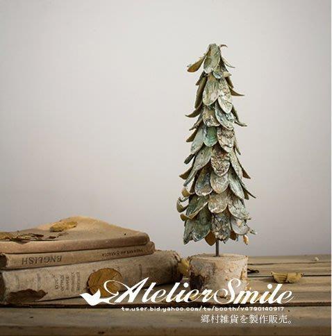 [ Atelier Smile ] 鄉村雜貨 日本  森林系 手工木片製 聖誕樹 桌面擺飾 #大款50cm (現+預)