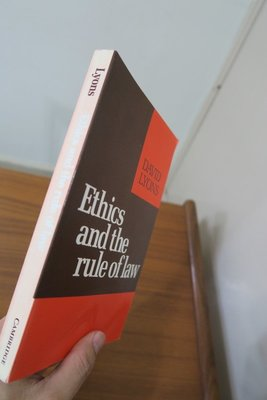 【英文舊書】[哲學] Ethics and the Rule of Law, David Lyons 倫理學與法治
