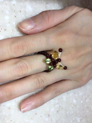 碧璽 戒指 可聚財納福的水晶
