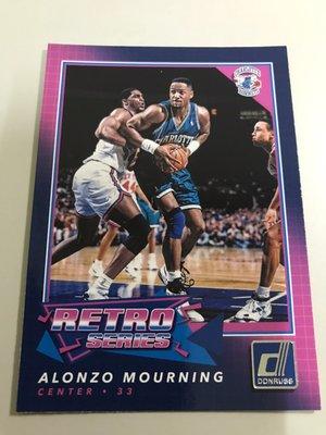 【ALONZO MOURNING】2017-18 NBA DONRUSS 黃蜂隊 特卡
