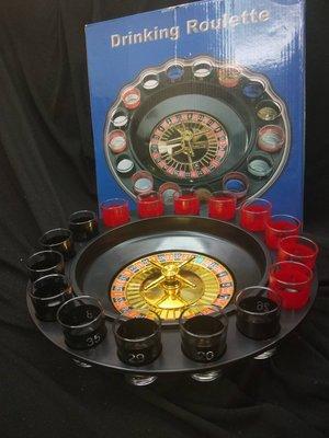 收藏品 俄羅斯輪盤 Drinking Roulette 16 酒杯 鋼珠 轉盤 轉轉樂 酒吧 道具 手動 黑色 可面交