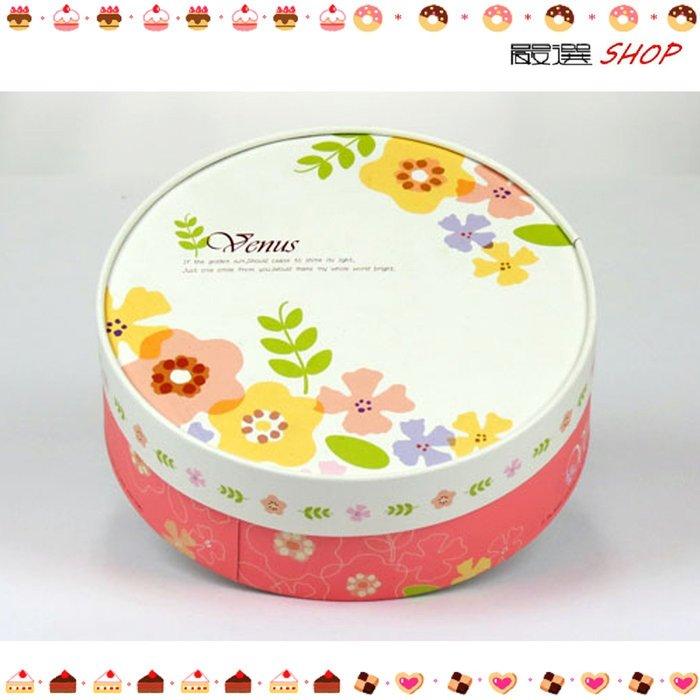 【嚴選SHOP】白底小花 附棉紙底板 6吋 乳酪盒 起司 蛋糕盒 紙盒 外帶盒 禮盒 包裝盒 烘焙點心【C004】
