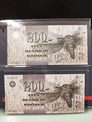 必集紙鈔--Faeroe Islands (2003年)P26法羅群島 200元---全新 售價是一張的價格