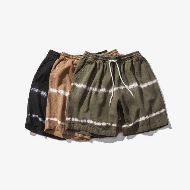 FINDSENSE 正韓短褲 G6 2019 薄款 夏款新款條紋三色紮染短褲休閒褲