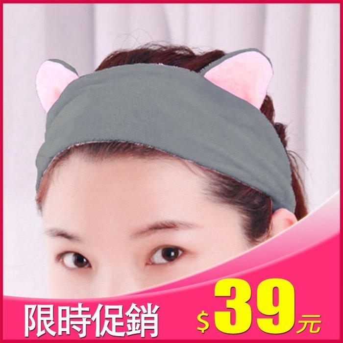 晶輝居家-AA095*韓版女生可愛造型彈性髮帶 黑色