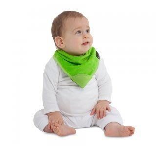 紐西蘭 Mum 2 Mum 機能型神奇三角口水巾咬咬兜-萊姆綠 吃飯衣 口水衣 防水衣