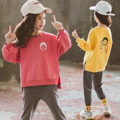 gogo購 中大童小朋友印花長袖上衣長褲運動套裝1080933