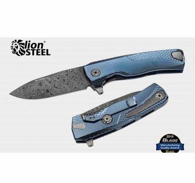 """LionSteel ROK DD BL Integral Flipper Knife 3.39"""" Nichols Scrambled 大馬鋼+鈦柄"""