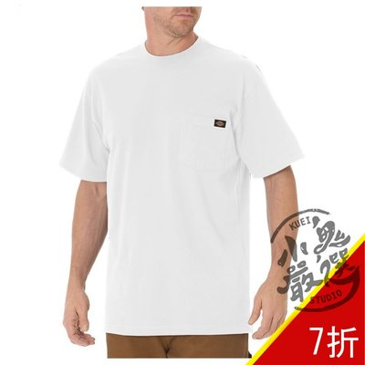 小鬼嚴選 DICKIES HEAVYWEIGHT T 男女 重磅 口袋 白色 短T WS450WH