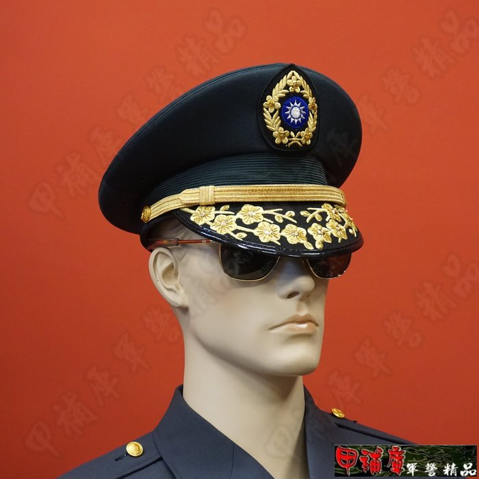 《甲補庫》___陸軍將軍大盤帽、少中將大盤帽___亮片+金蔥線刺繡