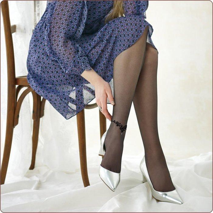 【拓拔月坊】IHRCOUTURE 日本郡是 GUNZE 水鑽月紋 腳踝鍊 絲襪 日本製~現貨!