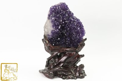 紫水晶花(根雕底座)-社交之石 愛的守護石 重:1779g(含底座)【吉祥水晶專賣店】編號AB50