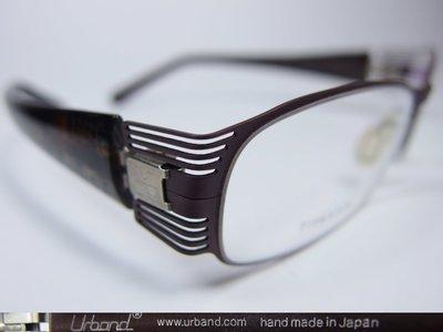 【信義計劃】全新真品 Urband 日本手工眼鏡 鏤空鈦金屬框 彈簧專利鏡腳 超越 Infinity Lindberg