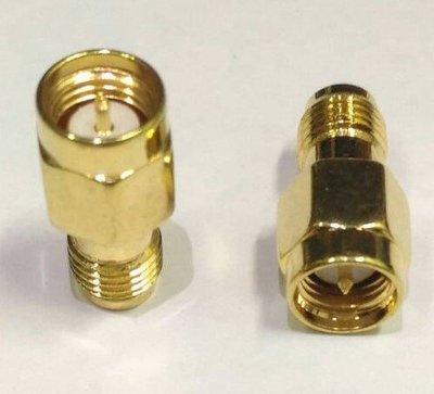 SMA反轉接SMA公頭(內螺內針)轉母頭(外螺內孔)正反極天線轉接頭 直通 內螺內針 轉外螺內孔