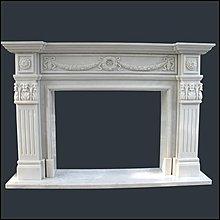 漢白玉雕刻壁爐  H110*L150*D30CM