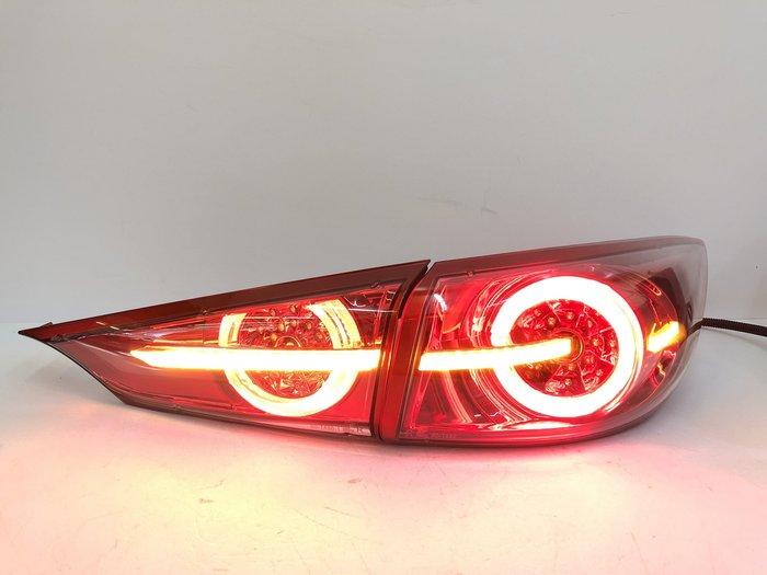 車燈 馬自達 MAZDA 3 馬3 尾燈 後燈 LED 導光 流光跑馬 14 15 16 17 18 M3 4門 方向燈