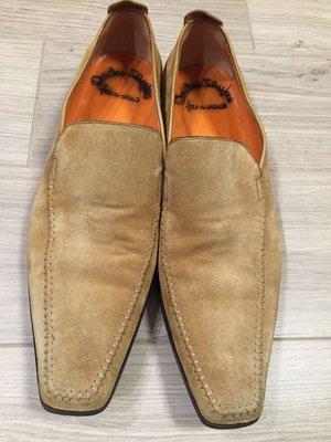 正品santoni手工鞋 麂皮鞋 約歐規43號