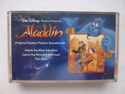 ///李仔糖明星錄*1993年奧斯卡金像獎最佳電影原聲帶-阿拉丁.二手卡帶(s682)