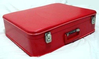 古早老皮箱:紅色小皮箱