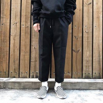 【inSAne】Korea Select / 9分反折 / 西裝褲 / 黑色 M L