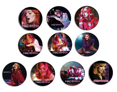 現貨 MADONNA Confessions On A Dance Floor pinback BADGE SET 2b 襟章 徽章 (一套10個)
