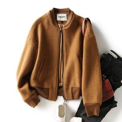 181巷 薇薇の舖  螺紋立領羊毛棒球服外套