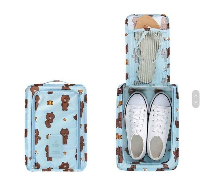 【Luxury】Korea X Line Friends 防水鞋袋 萬用收納袋 小孩衣物袋 奶瓶袋 防潑水材質 旅行必備