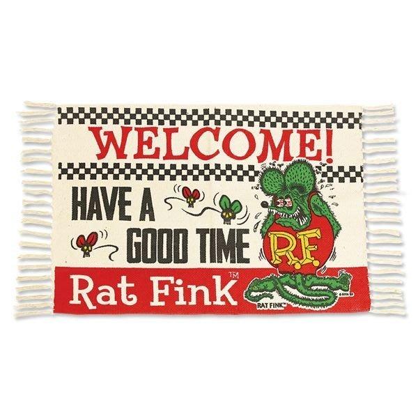 (I LOVE樂多)Rat Fink RF老鼠芬克地毯墊