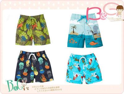 【B& G童裝】正品美國進口GYMBOREE Swim Trunk 青蛙,彩色章魚,大章魚,綠蜥蜴四款海灘短褲6-12mos