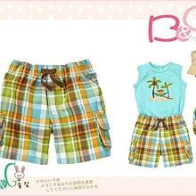 【B& G童裝】正品美國進口GYMBOREE Plaid Cargo Short 綠色格子短褲12-18-24mos