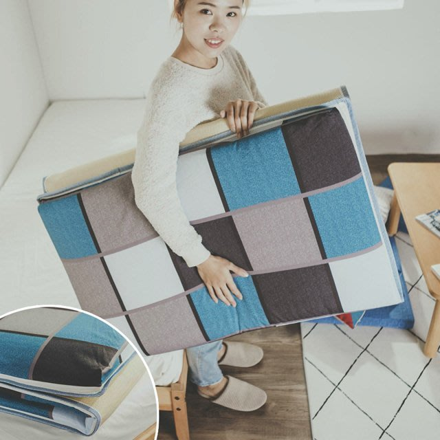 學生床墊【仿藤蓆面】單人3尺  絲薇諾(花色隨機出貨)