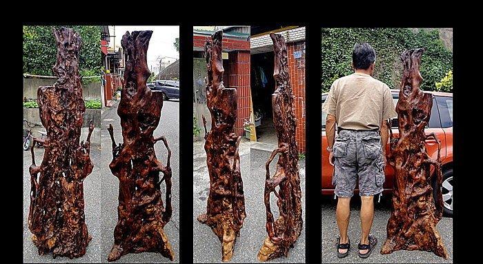 [福田工藝]澳洲檀香根瘤/天雕/盤根錯結龍飛鳳舞擺飾屏风(沈水級)重油脂淨重64.6斤