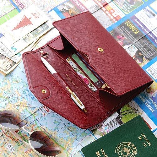 洋碼頭 韓國PLEPIC純色旅行創意多功能護照包機票夾大錢包手拿證件夾 IDEA-157
