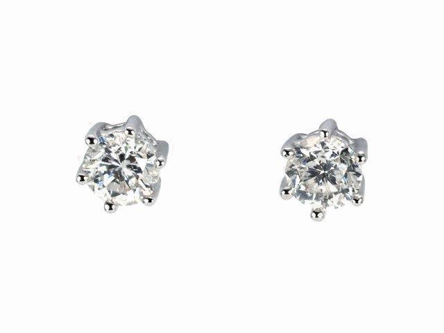 【JDPS 久大御典品 / 鑽石專賣】天然鑽石耳環13分級*2顆 極簡風輕珠寶 白18K金檯 編號H25230-1-2