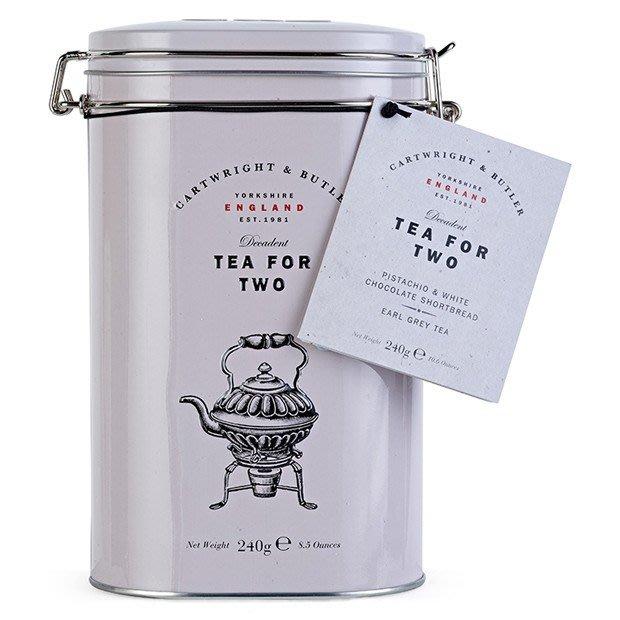 [要預購]英國代購 英國CARTWRIGHT&BUTLER 來喝個茶吧 開心果和白巧克力餅乾配上伯爵茶組合 450g