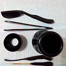 【九龍藝品】黑檀木 泡茶用具組 1