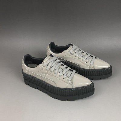 Puma Pointy Creeper Patent 蕾哈娜 黑灰 漆皮 尖頭 厚底松糕 滑板鞋366270-02 女鞋