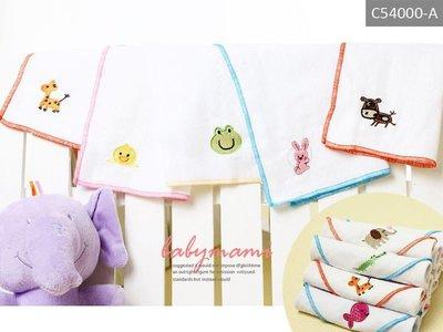 貝比幸福小舖【54000-A】 雙層加厚**可愛動物刺繡紗布手帕(不挑款)