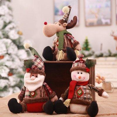 聖誕節裝飾用品擺件老人雪人公仔 商場櫥窗裝飾 兒童禮物店面布置
