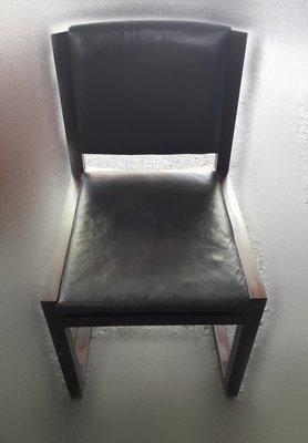 台中樂居二手家具 全新中古傢俱家電 K523GJ 胡桃色皮面餐椅*洽談椅 書桌椅 電腦椅 會客椅 2手各式桌椅拍賣