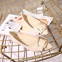litterluck-韓國專櫃秋鞋女2019春款百搭仙女單鞋春秋豆豆鞋大碼女鞋夏季40 41-43瓢鞋