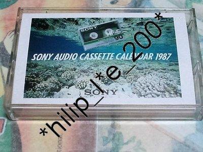 卡式錄音帶 日曆海洋生態圖片主題 Sony Audio Cassette Calendar1987  新力 宣傳紀念品