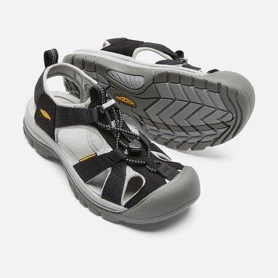 =CodE= KEEN VENICE SANDALS H2 編織彈性綁繩護趾防水包頭涼鞋(灰黑)1004006 拖鞋 女
